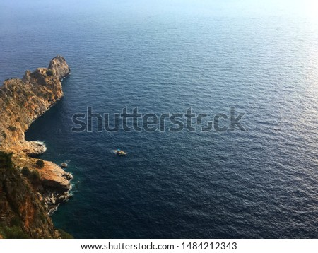 Mediterranean Sea view from The Caste of Alanya.