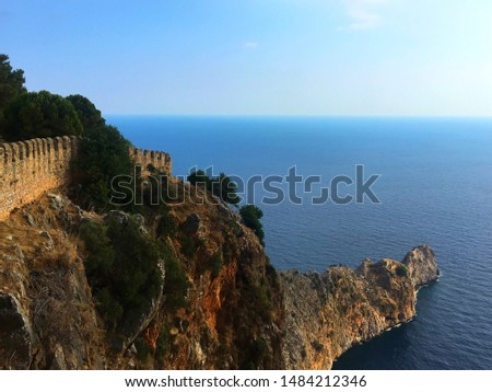Mediterranean Sea view from The Caste of Alanya. #1484212346