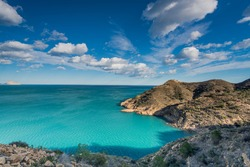 Mediterranean seascape at sunny day on Costa Blanca in Spain