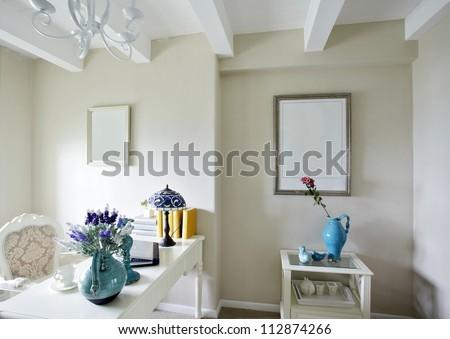 Mediterranean style of study room
