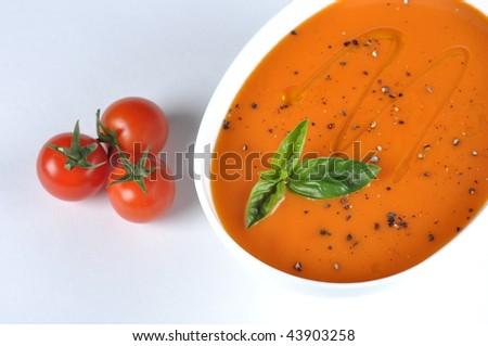 stock photo mediterranean tomato soup 43903258 - ~ mediterranean tomato soup ~