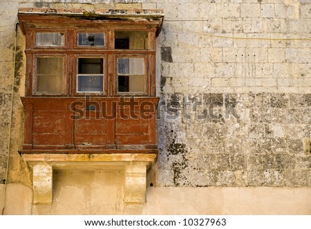 Mediterranean type and style of closed wooden balcony in for Closed balcony