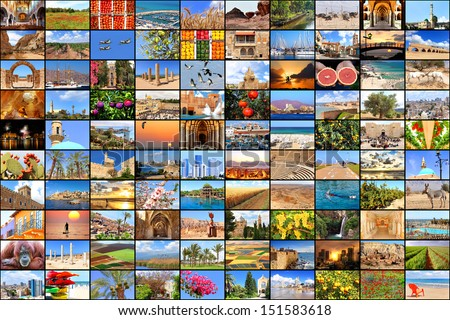 Mediterranean vacation collage photos