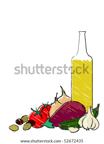 stock-photo-mediterranean-vegetables-still-life-illustration-on-white-also-available-as-a-vector-in-my-52672435.jpg