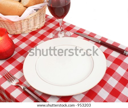 Meditteranean table setting