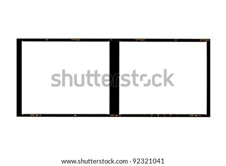 medium format film, isolated on white