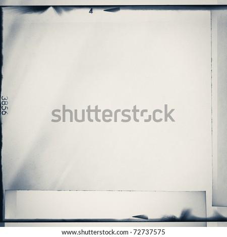 Medium format film strips collage background.