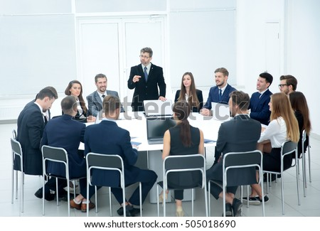 Meeting Brainstorm Round Table Ideas Communication Discussion  #505018690