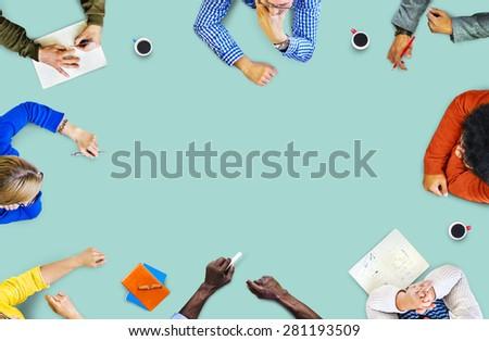 Meeting Create Brainstorm Ideas Design Think Discussion Concept
