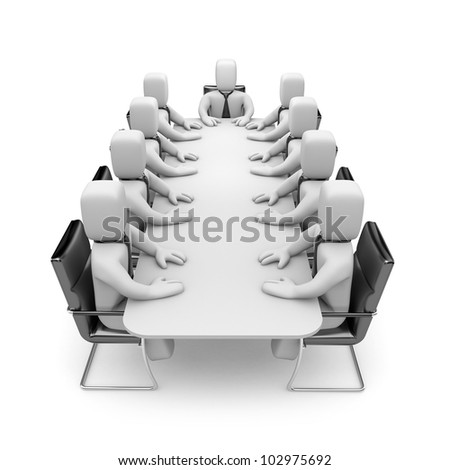 Meeting. Image contain clipping path