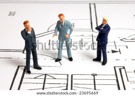 meeting of business man on architecture background