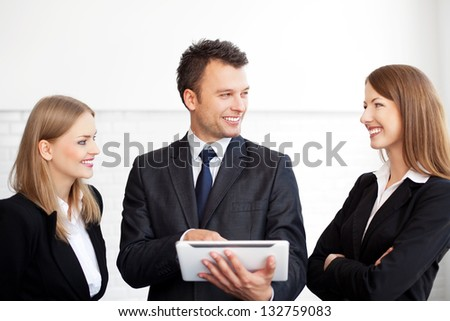 Meeting of business people