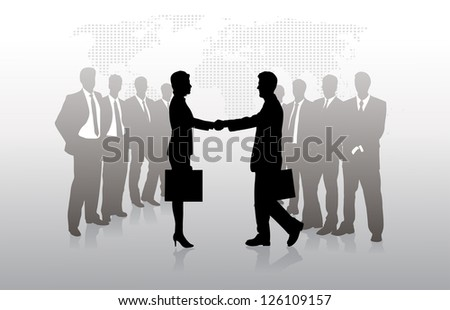 meeting of businessmen