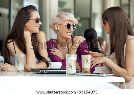 Meeting of friends - stock photo