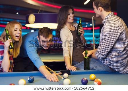 Meeting of young people in nightclub
