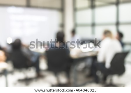Meeting room blur background office people group working in team discussion