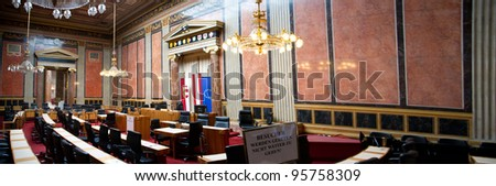 Meeting room of the Austrian Lower House, or Nationalrat