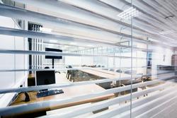 meeting room view across jalousie