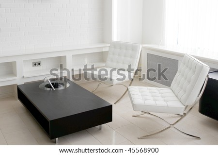 meeting room with leather furniture