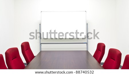 Meeting room with whiteboard