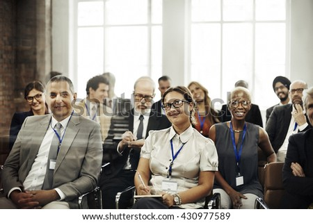 Meeting Seminar Conference Audience Training Concept #430977589