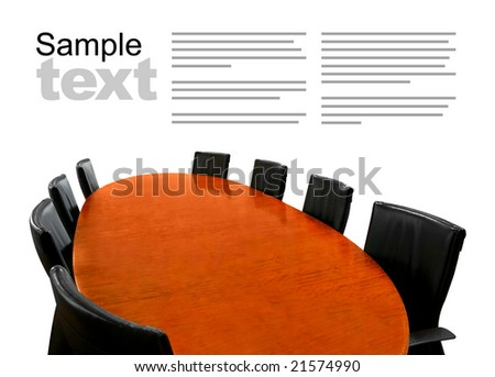 Meeting table isolated