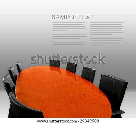 meeting table layout - stock photo