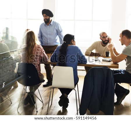 Meeting Table Networking Sharing Concept #591149456