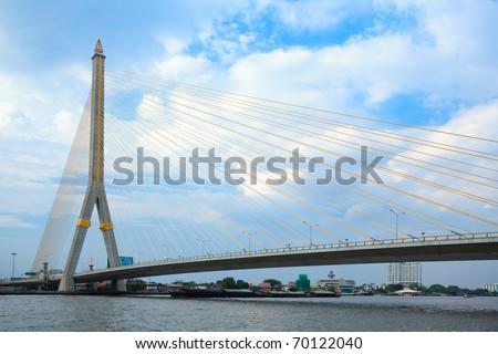 Mega bridge in Bangkok,Thailand (Rama 8 Bridge)