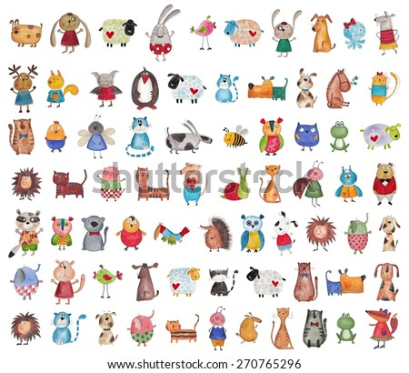Mega collection of cartoon pets