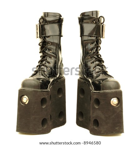 Mega platform boots, isolated