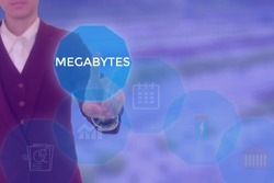 MEGABYTES - technology and business concept
