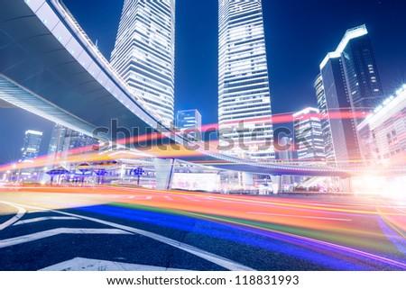 Megacity Highway in China - stock photo