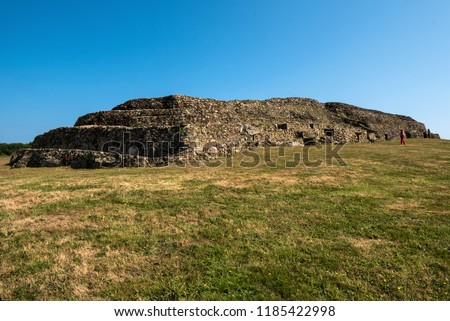 Megalithic  structure in Brittany (Barnenez) - Shutterstock ID 1185422998