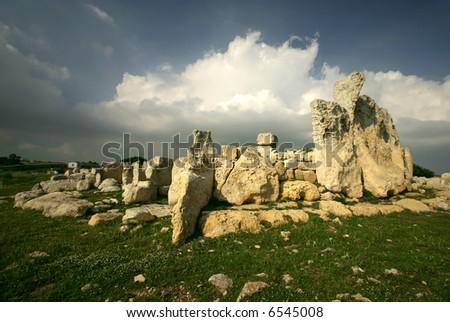 Megalithic Temples of Hagar Qim, a UNESCO site in Malta