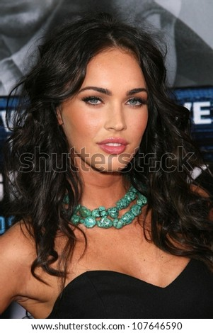 Megan Fox  at the Los Angeles Premiere of 'Eagle Eye'. Mann's Chinese Theatre, Hollywood, CA. 09-16-08 - stock photo