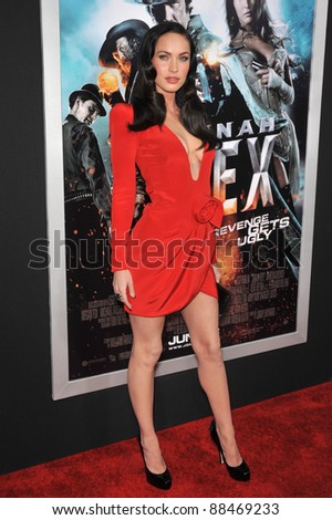 """Megan Fox at the Los Angeles premiere of her new movie """"Jonah Hex"""" at the Cinerama Dome, Hollywood. June 17, 2010  Los Angeles, CA Picture: Paul Smith / Featureflash"""