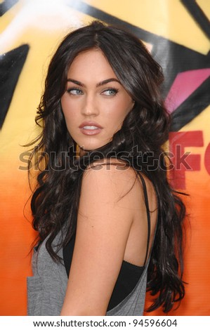 stock photo : Megan Fox at the 2007 Teen Choice Awards at the Gibson ...