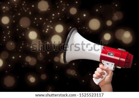 Megaphone attention background advertisement amplifier announce announcement