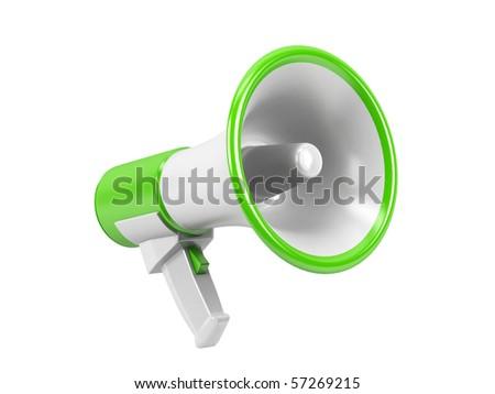 Megaphone isolated on white background.