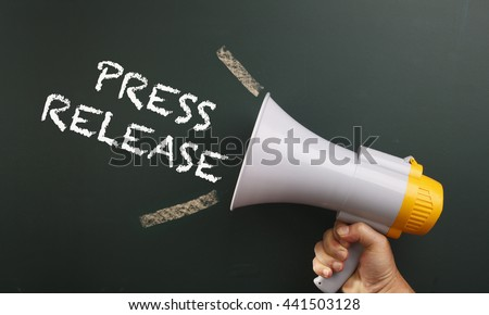 megaphone with text press release