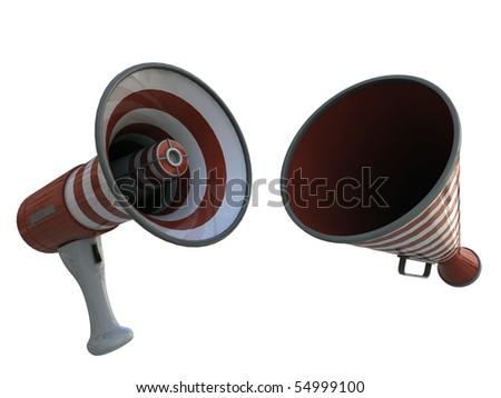 megaphones isolated on white background