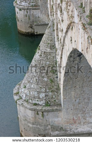 Mehmed Pasha Sokolovic Bridge, from 16. century, Visegrad,  Bosnia and Herzegovina, October 1,  2018.  #1203530218