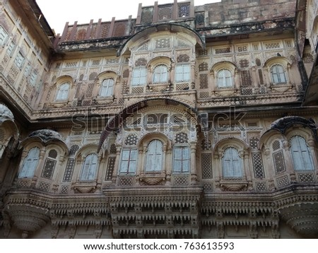 Mehragarh fort Beauty with indian architecture #763613593