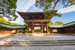 Meiji Shrine in Shibuya, Tokyo, Japan