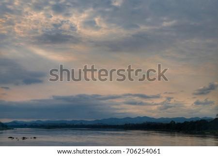 Mekong river, Chiangkan, Loei, Thailand #706254061