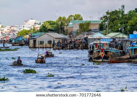 Mekong River - near Chau Doc - Vietnam