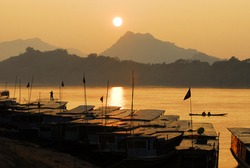 Mekong river,port
