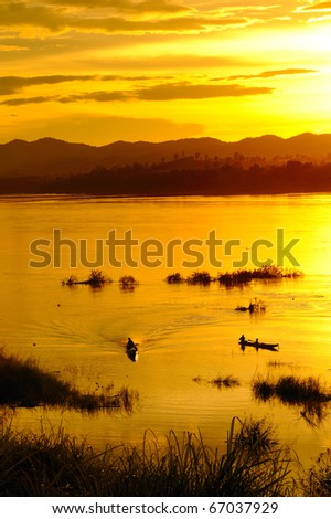 mekong river, thailand and laos