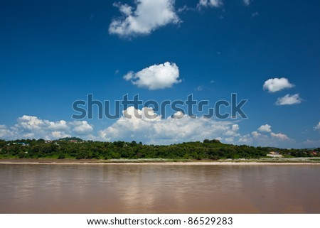 Mekong River view take from Chiang Khong ,Thailand